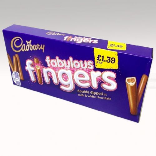 CADBURY FABULOUS FINGERS DOUBLE DIPPED x12 x110g